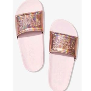 Victoria's Secret Pink Strap Slide Rose Gold L